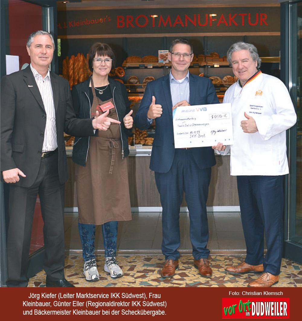 Brotmanufaktur Kleinbauer: 1050 Euro an die Aktion Sternregen